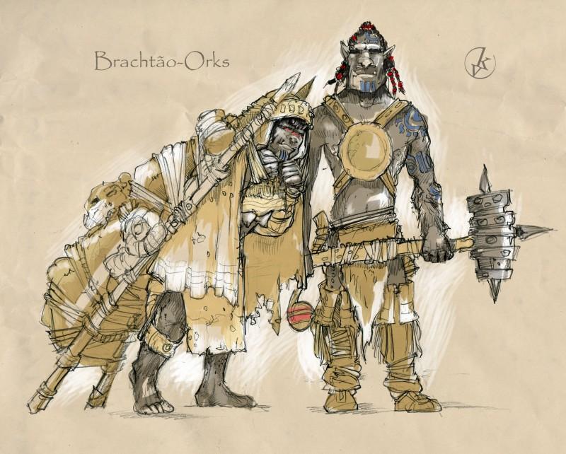 Orcs family by KonradV