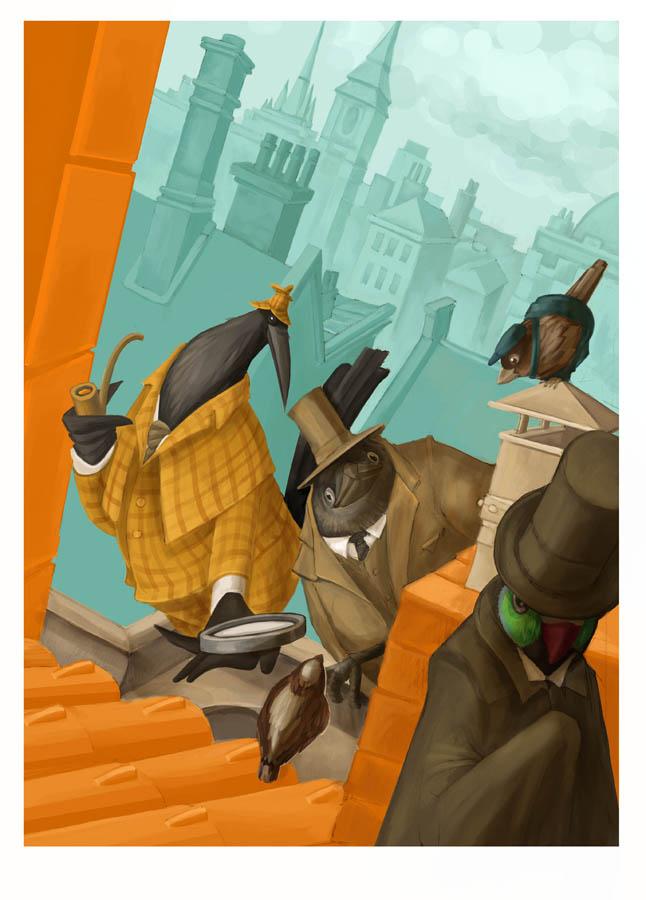 Sherlock Holmes and Dr. Watson by KonradV