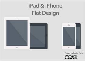 Ipad and iphone Flat-design By Raditeputut by raditeputut