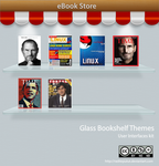 Glass Bookshelf UI Kit iOS Android Themes