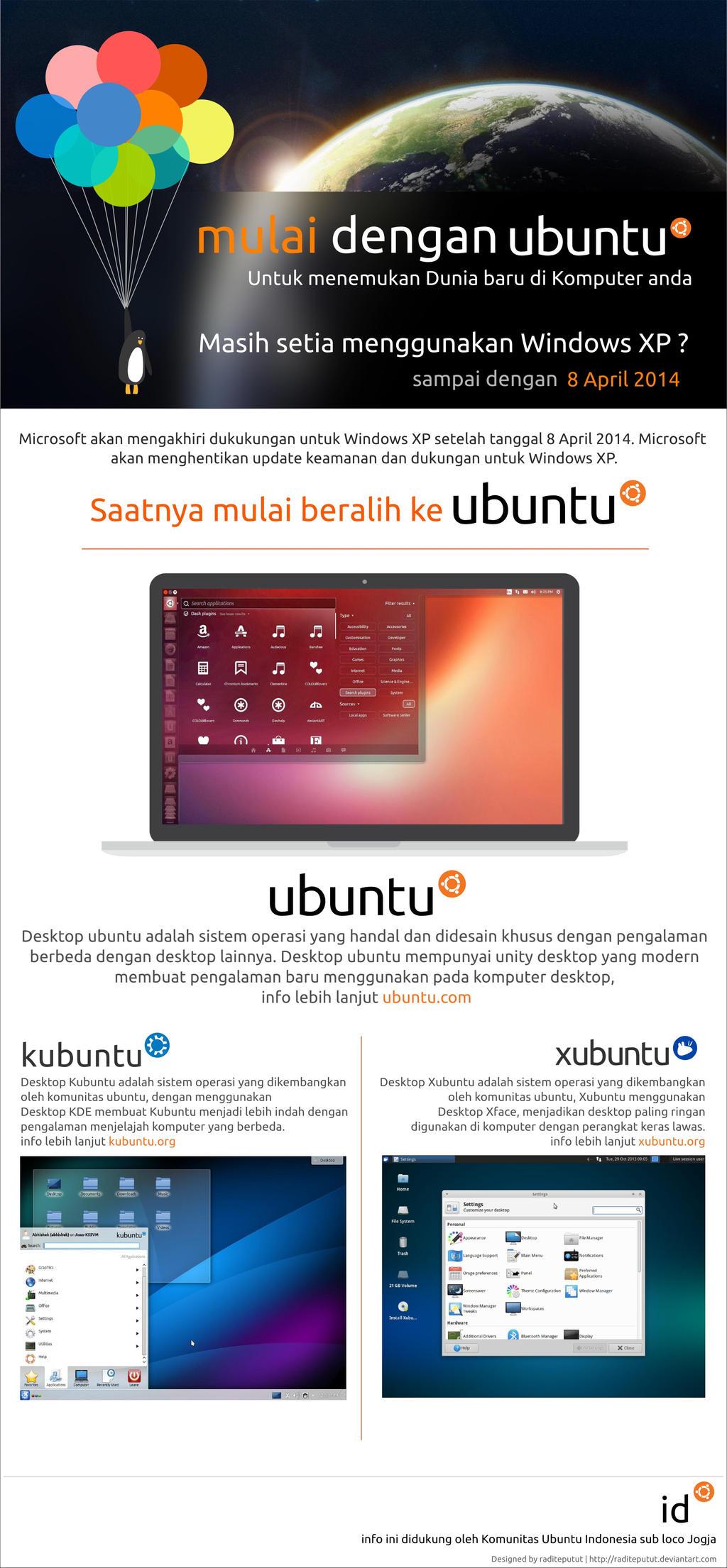 Ubuntu Jogja Poster - windows xp end support by raditeputut