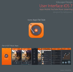 User Interface Music Stream Youtube Mobile Apps by raditeputut