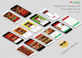 Pomodoro Pizza Sandwiche Order Service Mockup by raditeputut