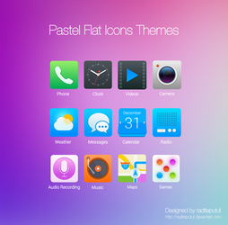 Pastel Flat Icons Themes