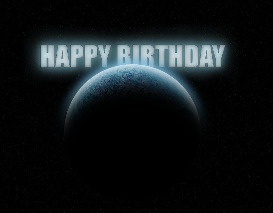 Space Birthday Card By Coldsummerdays On Deviantart