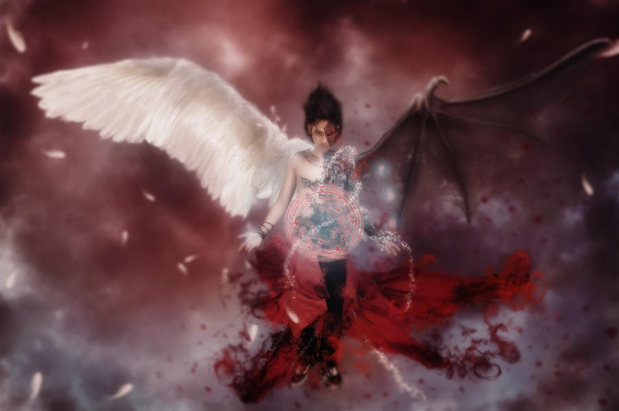 angel human demon by jhanz on deviantart