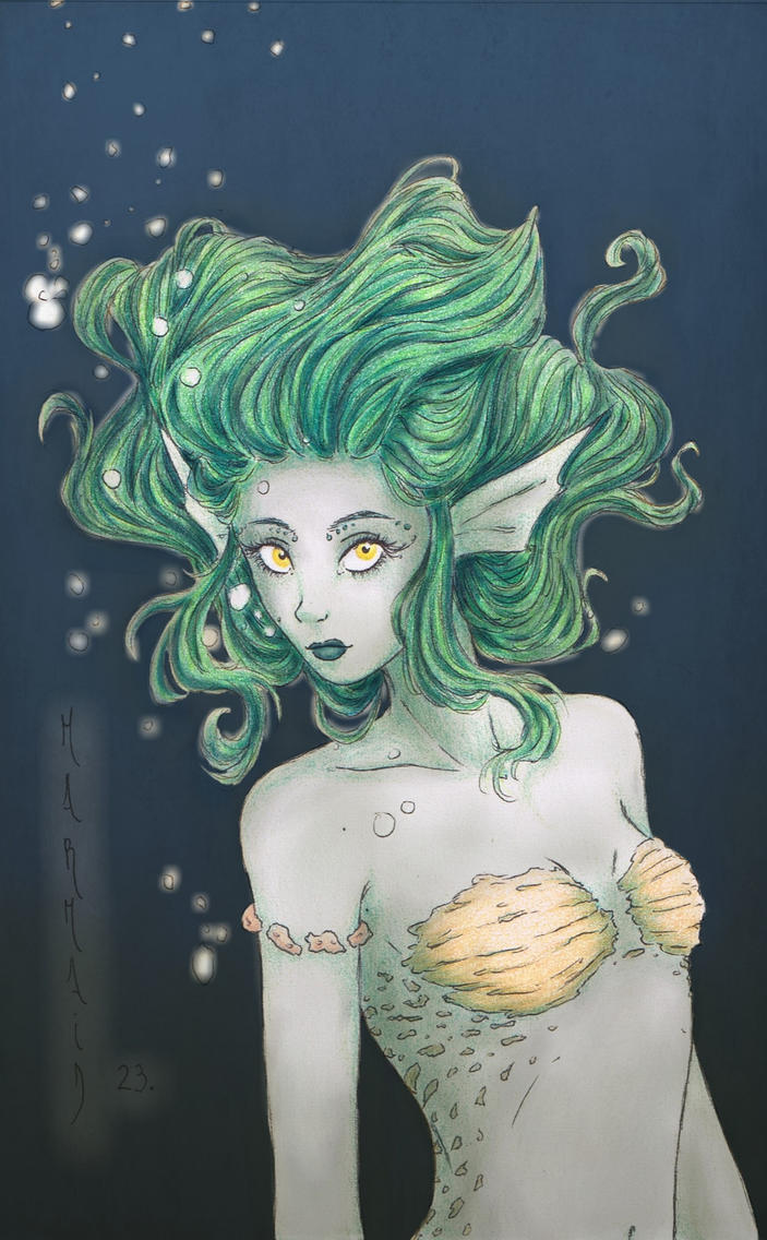 Mermaid in Green by meg-cielvi-vampire94