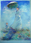Monet Woman with Parasol study