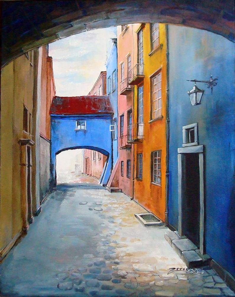 Warsaw old town - Dawna by zersen