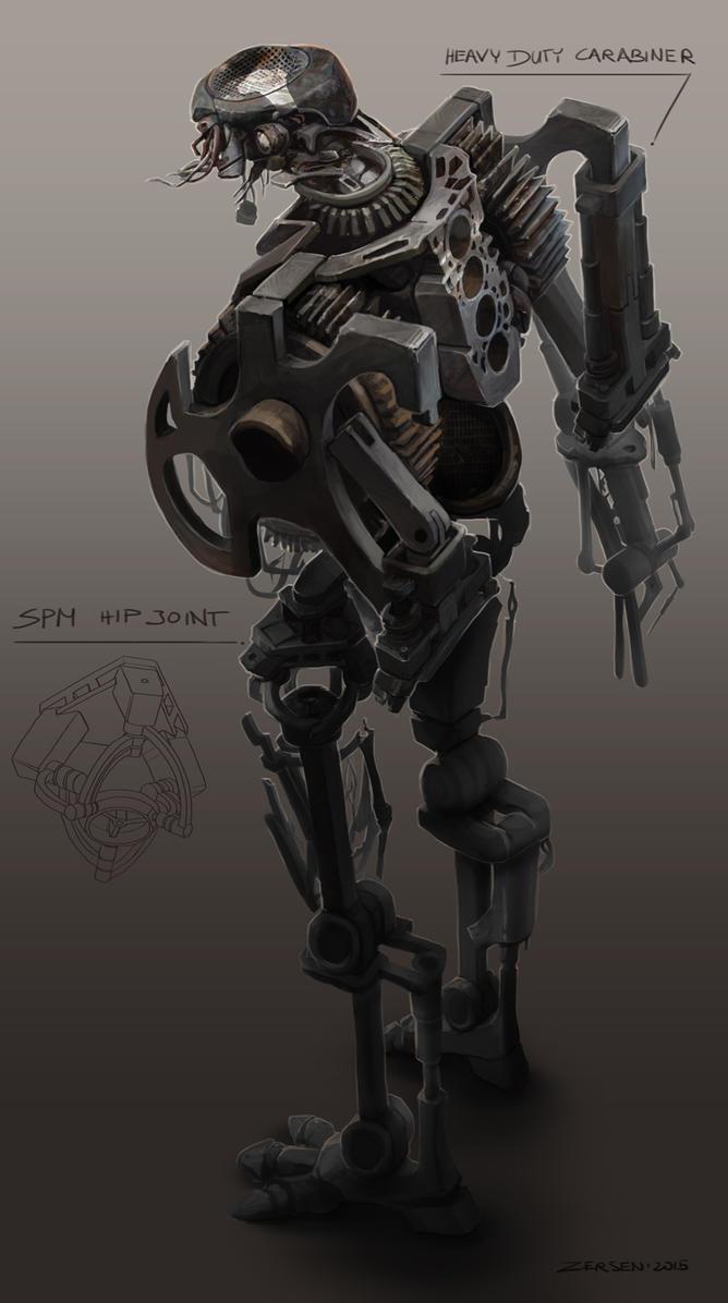 mech skeleton scrap wip by zersen