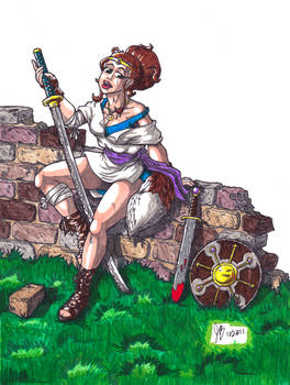 Hailey Kitson - A Warrior Triumphant (Markers)