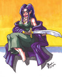 Angelique Scimitar Color Sketch