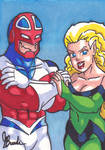 Sketch Card #9 - Captain Britain