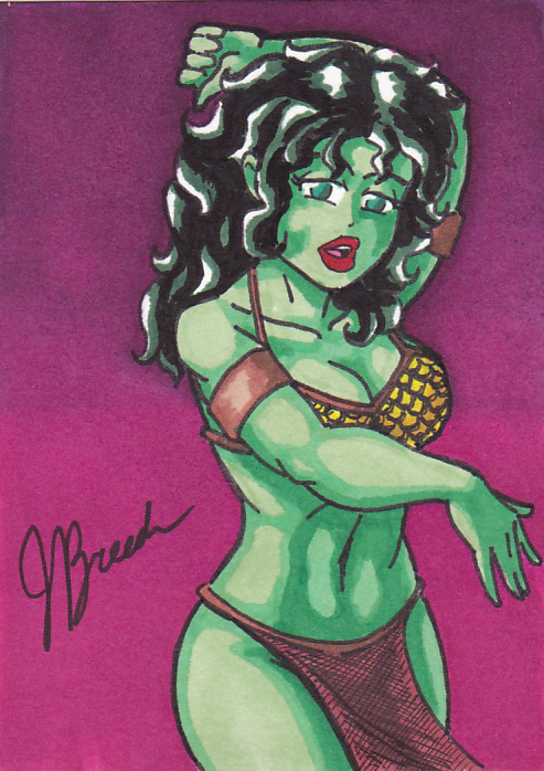 Sketch Card #36 - Orion Slave Girl by destinyhelix