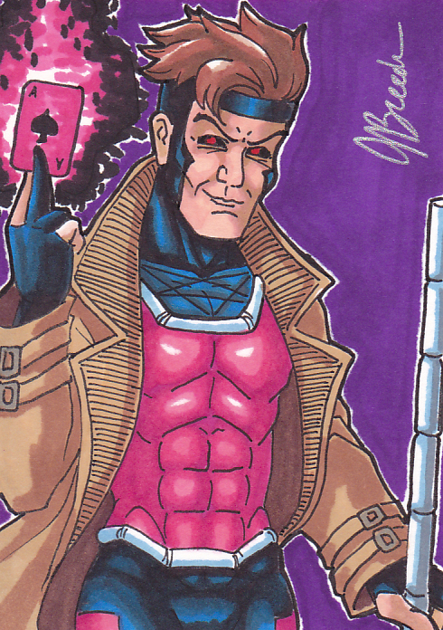 Sketch Card 184 - Gambit by JasonRocket