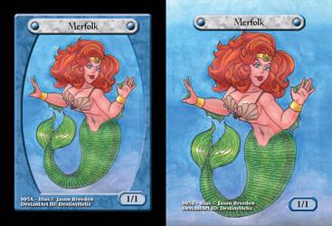Custom Magic Token #5 - Merfolk