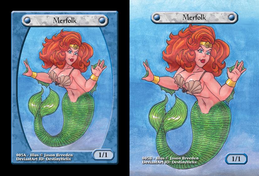 Custom Magic Token #5 - Merfolk by destinyhelix