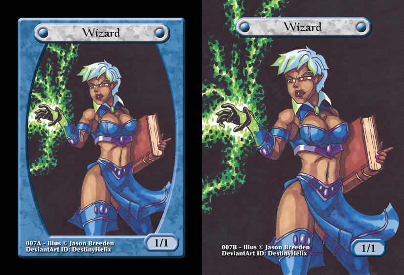 Custom Magic Token #7 - Wizard by destinyhelix