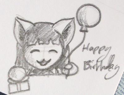Birthday card sketch by littleai on deviantart birthday card sketch by littleai bookmarktalkfo Choice Image