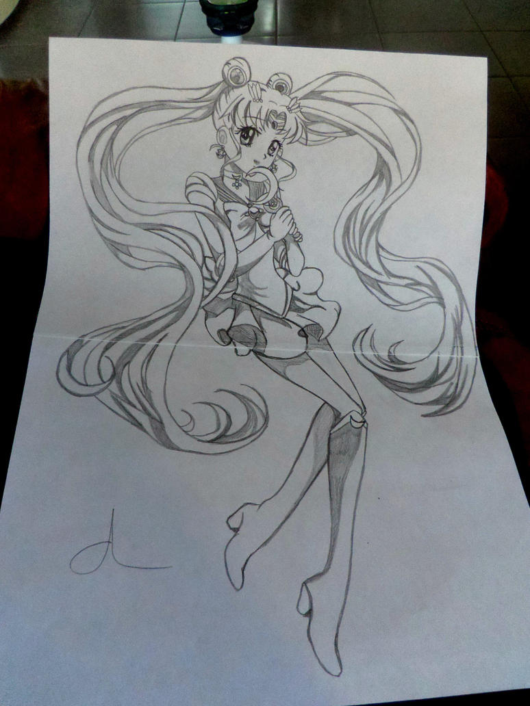 drawing sailor moon by miichaelis