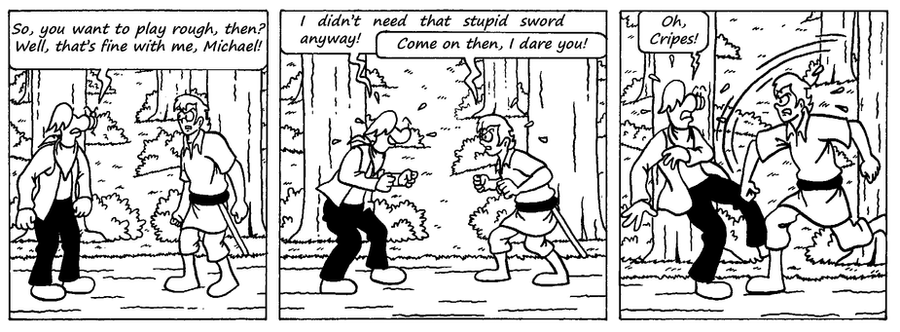 Zander Adventure Strip 25 by MDKartoons