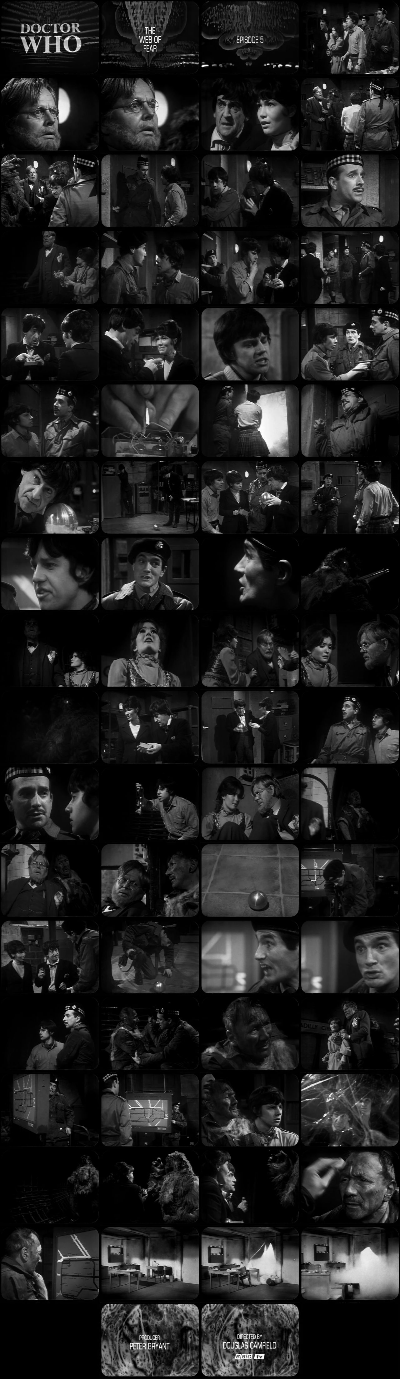 The Web of Fear Episode 5 Tele-Snaps