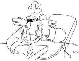 Robotnik on the Phone by MDKartoons