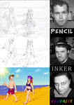 MDCartoons - Three-Way Art Collaboration