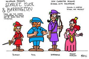 Scarlet, Tuck and Barrington (2006) by MDKartoons