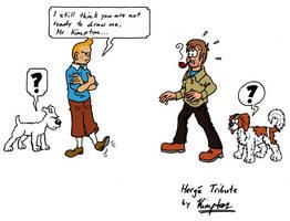 Kimpton and Tintin by MDKartoons