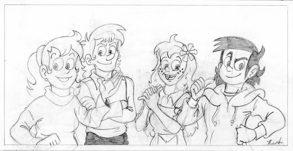 Pieutira - The Four Main Characters (WIP)