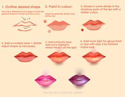Tutorial - Semi-realistic female lips