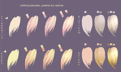 Blondes. Hair palette
