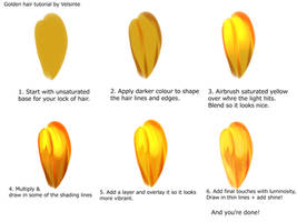 Tutorial - Golden hair by Velsinte