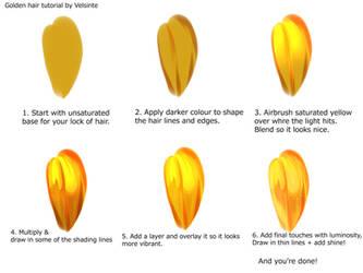 Tutorial - Golden hair by Velsinte