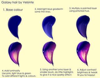 Tutorial - Galaxy hair by Velsinte