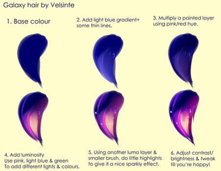 Tutorial - Galaxy hair