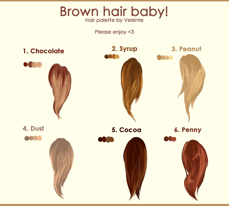 Brown hair. Hair palette ! by Velsinte