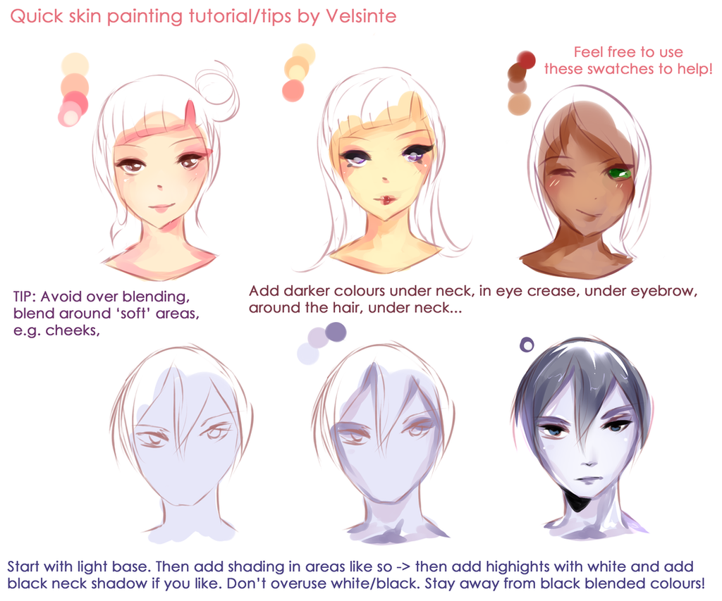 how to draw wrinkles in skin