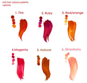 Red hairs palette !