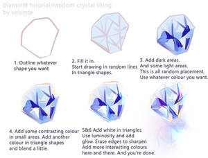 Diamond/Crystal step by step Tutorial