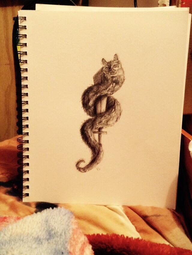 Snake/cat hybrid by TwilightRoxK