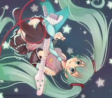 .Hatsune Miku. by lNeko-Hime