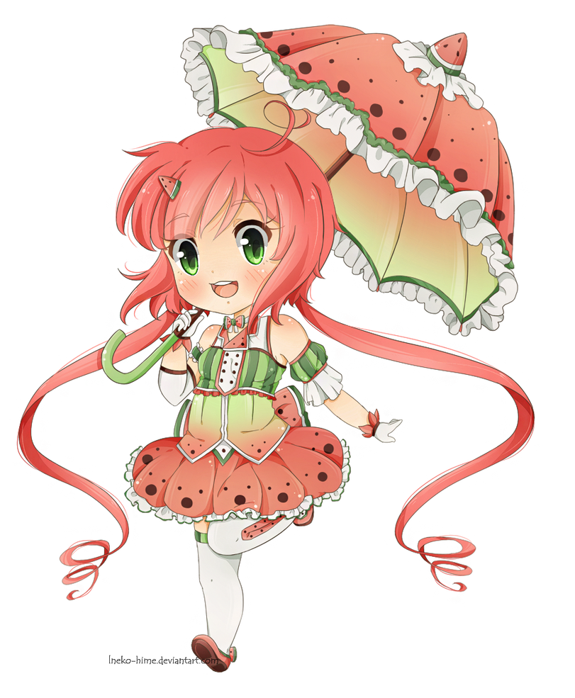.Miss Watermelon. by lNeko-Hime