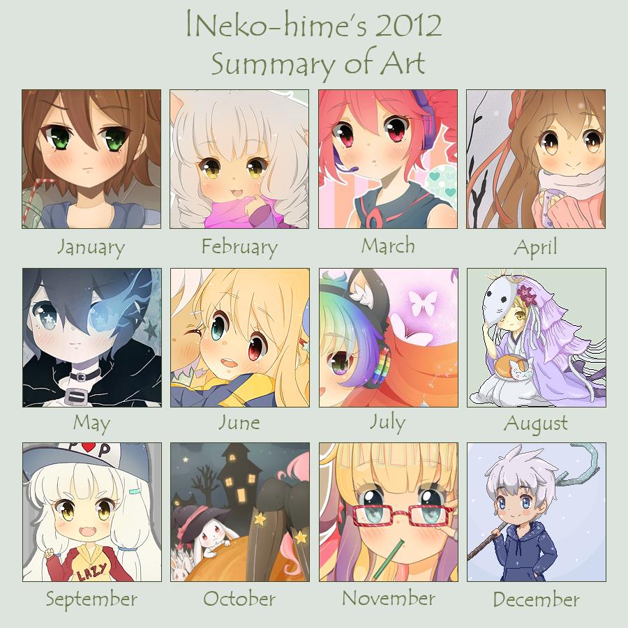 .2012 Art Summary. by lNeko-Hime