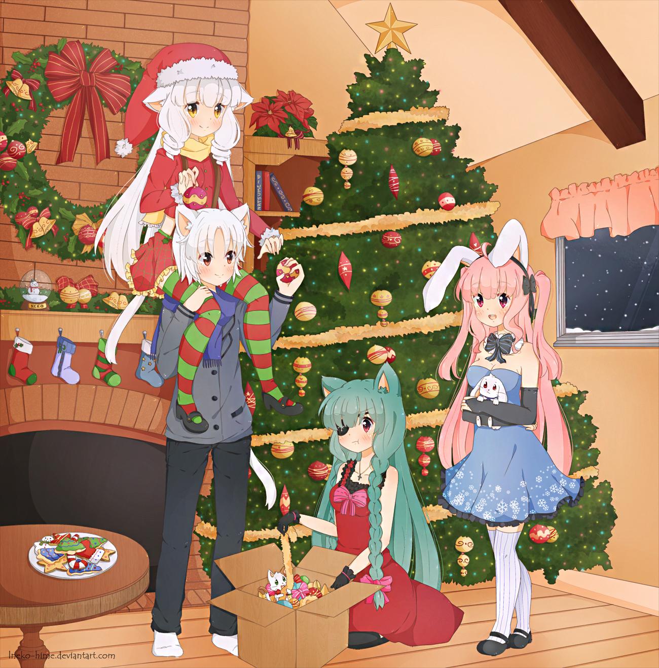 2012 Christmas by lNeko-Hime