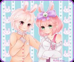.Bunnies. by lNeko-Hime