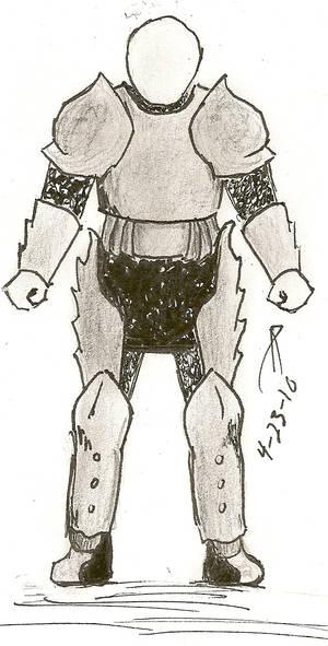 Temporary sketch- Aerial armor