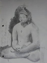 Sketch from the Life of Parsvanatha sculpture, DIA