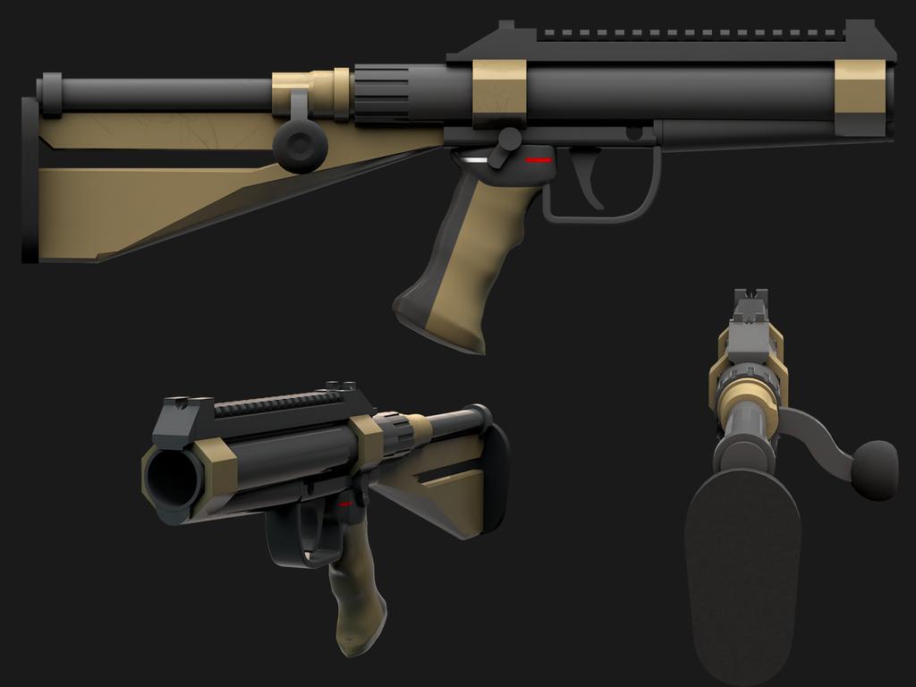 BA-10, a bolt-action shotgun by Elfdud7